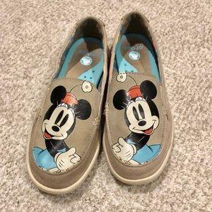 Minnie Mouse Crocs Boat Shoes